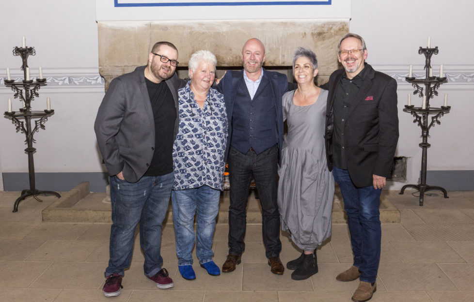 The five McIlvanney Prize shortlisted authors: Jay Stringer, Val McDermid, Craig Robertson, Denise Mina and Craig Russell. Pic: Paul Reich
