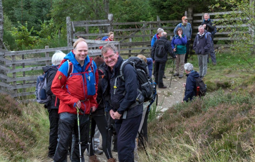 Big Smiles from hike leaders Ken and Garry. Pic: Ian Moffat