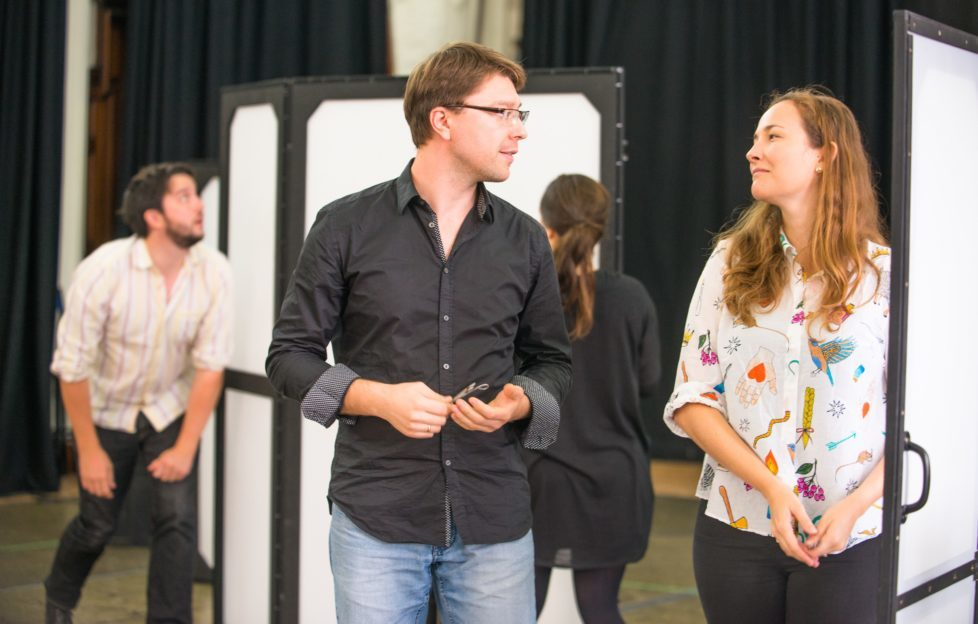 Alexey Gusev and Kate Howden in rehearsals for Opera Highlights. Scottish Opera 2017. Pic: Tommy Ga-Ken Wan.