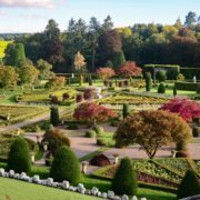 Drummond Gardens doubled as the Gardens of Versailles in Outlander season 2. Pic: Neil Robertson