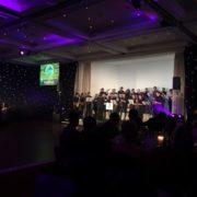 Glasgow Uni Big Band entertain the award-winners