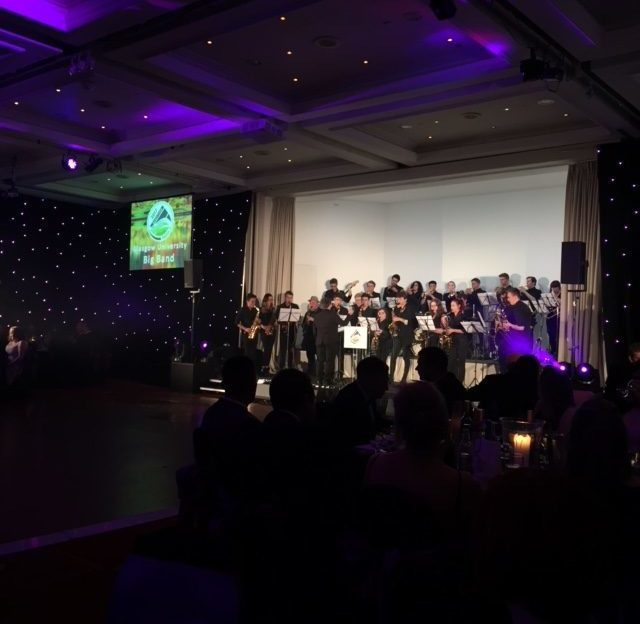 Glasgow Uni Big Band entertain the award-winners