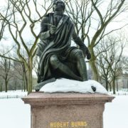 Burns statue in Central Park, New York. Pic: iStock