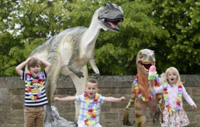Dynamic Earth 2018 Summer Programme Launch - Design your own dinosaur. Pic: © Lesley Martin