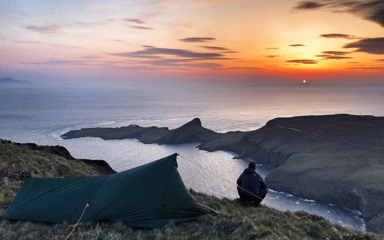 """Sunset overlooking Neist Point on the Isle of Skye."" Donnie Nicolson, @donnienic45 on Twitter."