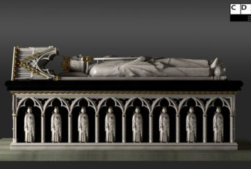 The Lost Tomb of Robert the Bruce. Pic credit: CDDV a partnership between Historic Environment Scotland and the Glasgow School of Art' Tomb.