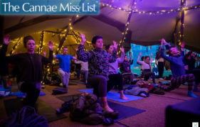Yoga at Scapa Fest. Events Scotland. Pic credit: www.arcantide.com